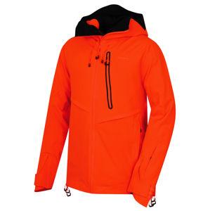 Husky  Mistral M XL, neonově oranžová Pánská lyžařská bunda