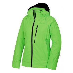 Husky  Montry L S, neonově zelená Dámská lyžařská bunda