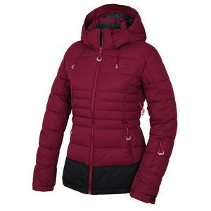 Husky  Nerel L XL, vínová Dámská plněná zimní bunda