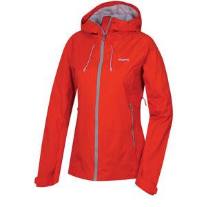 Husky  Nicker L XL, červená Dámská hardshellová bunda
