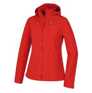 Husky  Sahony L L, jemná červená Dámská softshell bunda