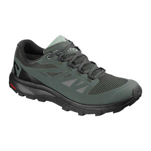 Salomon OUTLINE GTX UK 9,5, Urban Chic/Black/Green Milieu Pánské boty Salomon